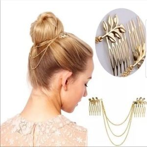 Accessories - Leaves 🍁 Chains Hair Combs Gold